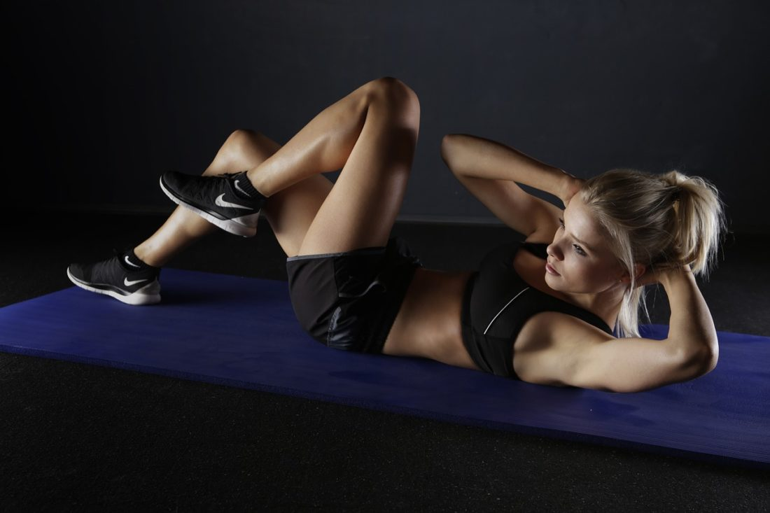 Woman working out
