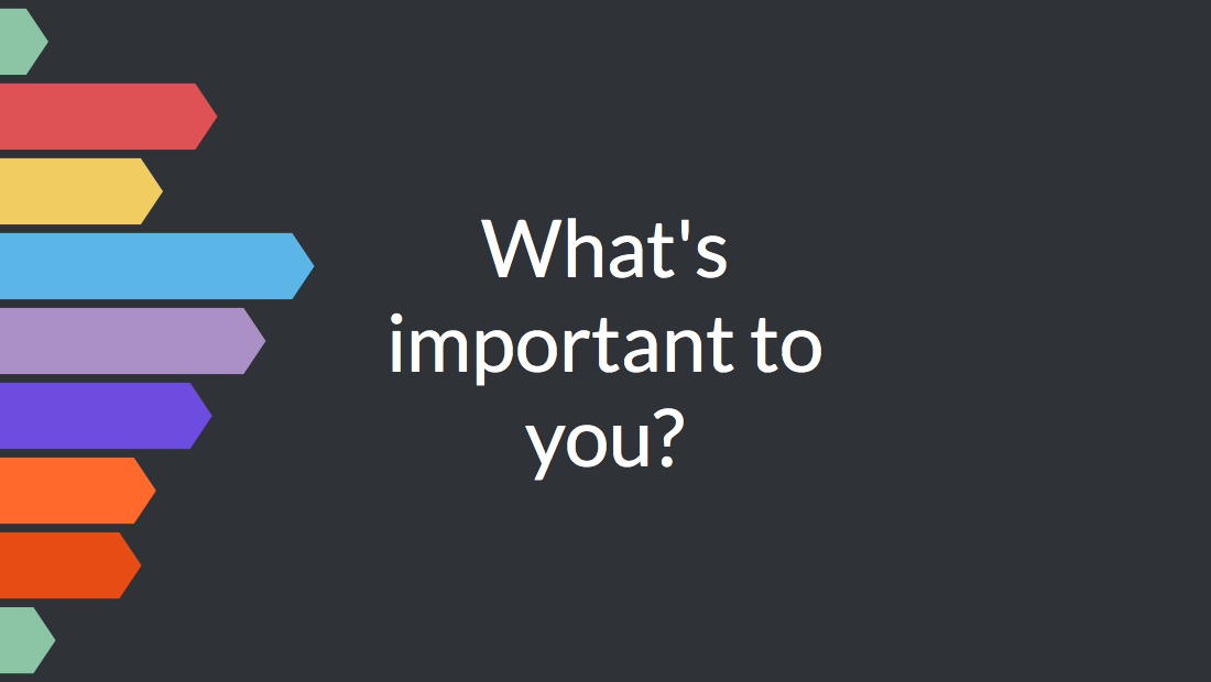 What's important to you?